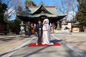 冬の神社結婚式