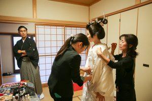 和装和婚美しい花嫁