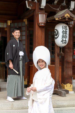 和婚群馬神前結婚式白無垢綿帽子