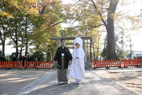 群馬県神社神前式白無垢