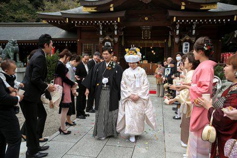 群馬県和婚神前式神社演出