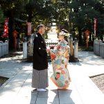 進雄神社結婚式色打掛