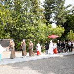 群馬県和婚神前式新緑で参進