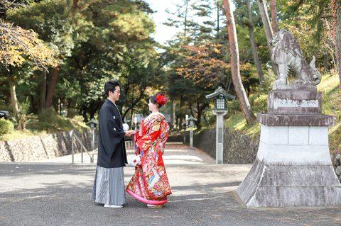 群馬県和婚神前式秋の少人数結婚式