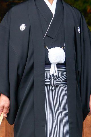 新郎紋付袴通紋