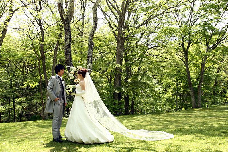 ウェディングドレス軽井沢花嫁さだわりコーデ
