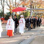 群馬県和婚神前式神社結婚式秋紅葉