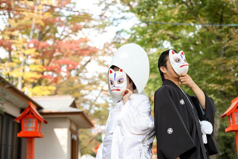 秋の神社結婚式群馬県