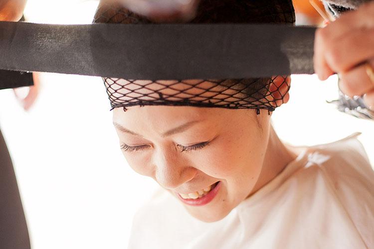 群馬県和婚和装白無垢綿帽子