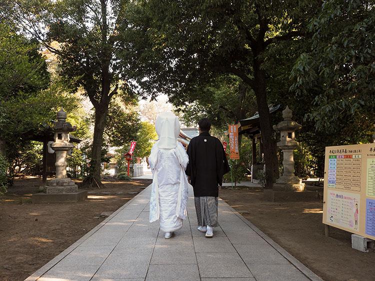 群馬県和婚神前式神社結婚式参進