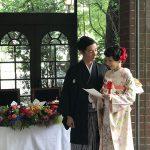 和装花嫁で晴れ着コーディネート