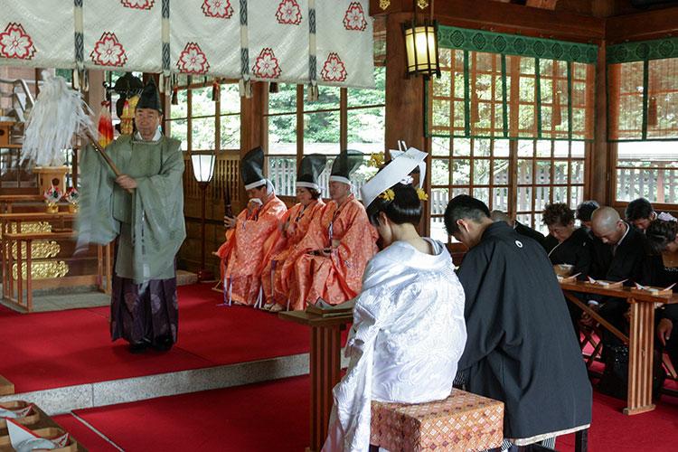 群馬県護国神社和婚神前式