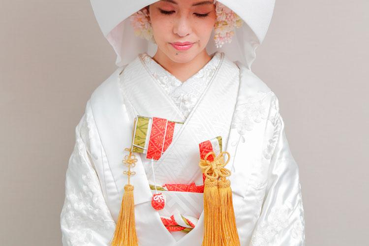 白無垢洋髪綿帽子格安