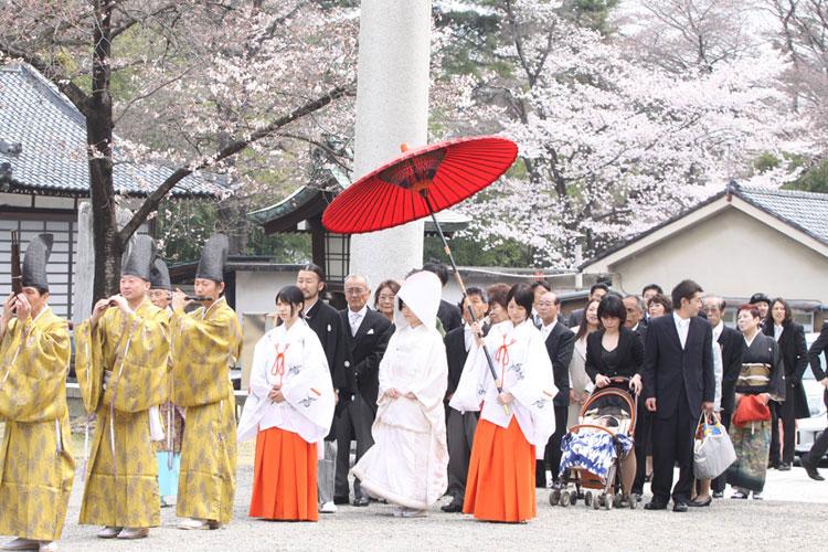桜・花嫁結婚式群馬県和婚神前式