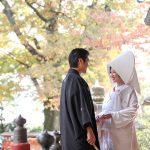 秋の紅葉神社結婚式