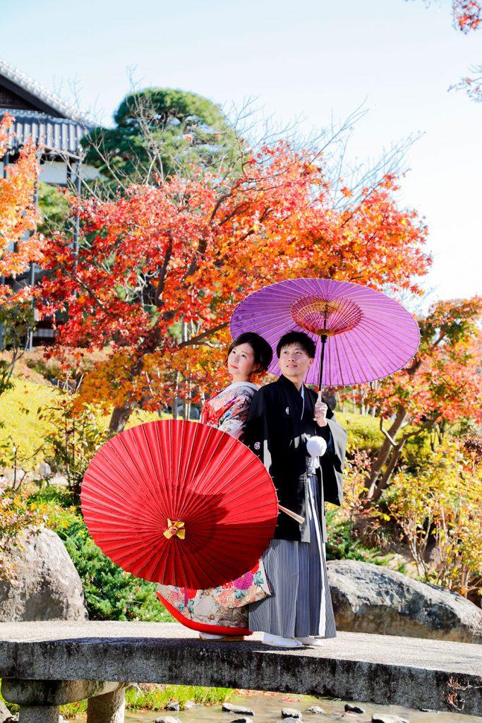 秋の紅葉前撮りロケーションフォト &結婚式