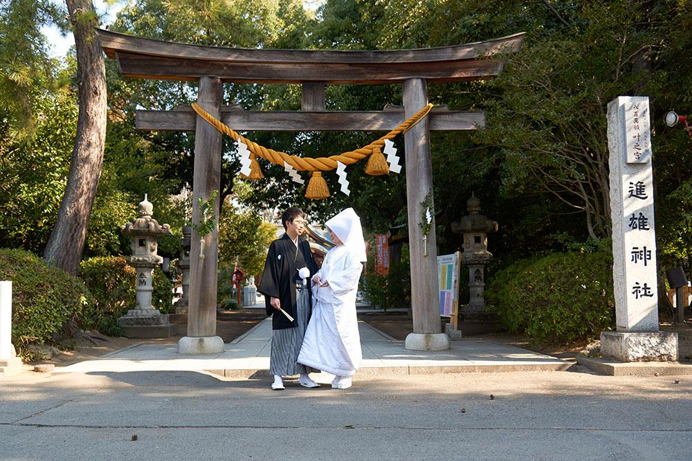 進雄神社3月神前結婚式