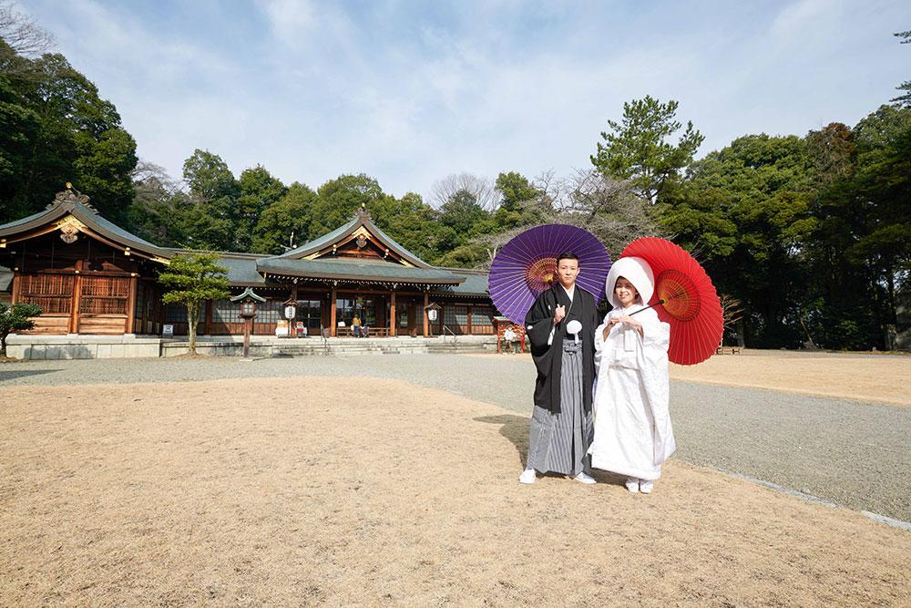 群馬縣護國神社2月神前結婚式
