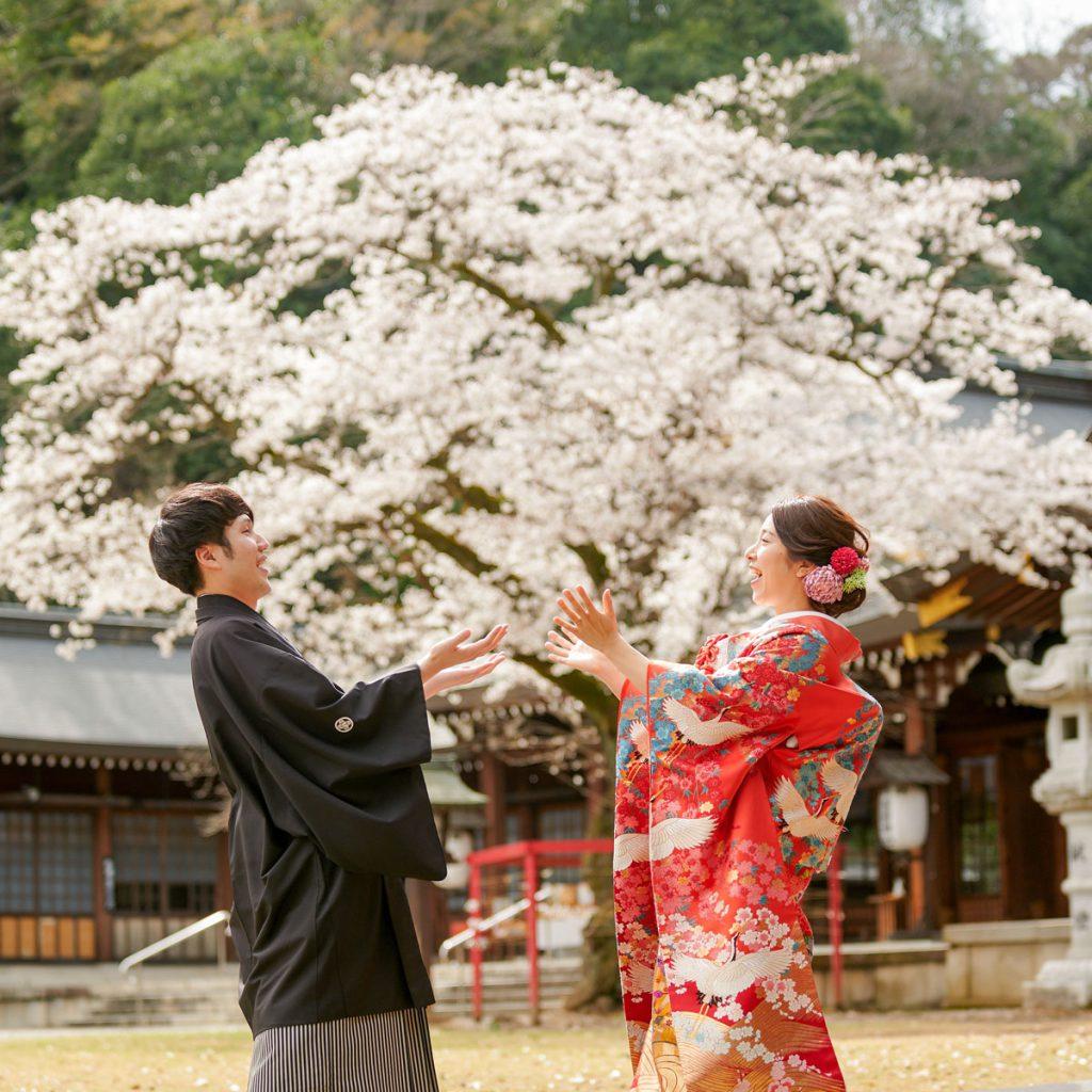 桜結婚式群馬県神社神前式